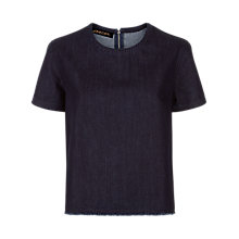 Buy Jaeger Denim T-shirt, Indigo Online at johnlewis.com