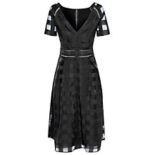 Buy True Decadence Short Sleeve Midi Dress, Black Online at johnlewis.com