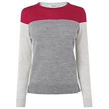 Buy L.K. Bennett Emily Colourblock Jumper, Grey Online at johnlewis.com