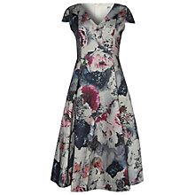Buy True Decadence Short Sleeve Floral Midi Dress, Purple Online at johnlewis.com