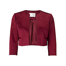 Buy Jacques Vert Petite Sateen Jacket, Mid Purple Online at johnlewis.com