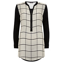 Buy Mint Velvet Check Lace Cape Tunic Top, Multi Online at johnlewis.com