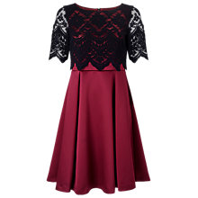 Buy Jacques Vert Petite Lace Layer Dress, Multi/Black Online at johnlewis.com