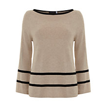 Buy Mint Velvet Camel Swing Border Knit Jumper, Stripe Online at johnlewis.com