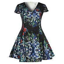 Buy True Decadence Short Sleeve Floral Skater Dress, Dark Blue Online at johnlewis.com
