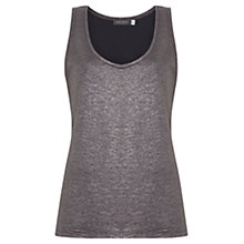Buy Mint Velvet Mercury Sleeveless Vest Top, Grey Online at johnlewis.com