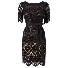 Buy Jacques Vert Petite Layer Lace Dress, Black Online at johnlewis.com