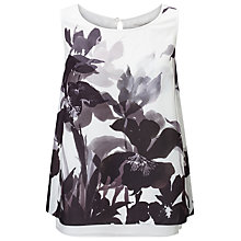 Buy Jacques Vert Petite Double Layer Top, Black Online at johnlewis.com