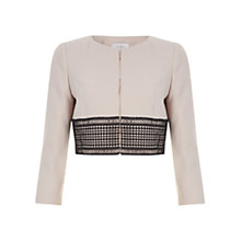 Buy Hobbs Renata Jacket, Latte Beige/Black Online at johnlewis.com