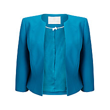 Buy Jacques Vert Edge To Edge Crepe Jacket, Mid Blue Online at johnlewis.com