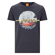 Buy BOSS Orange Tayé T-Shirt, Navy Online at johnlewis.com