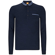 Buy BOSS Orange Patcherman Polo Shirt, Blue Online at johnlewis.com