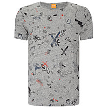 Buy BOSS Orange Tavoon Slim Fit T-Shirt, Light Pastel Grey Online at johnlewis.com