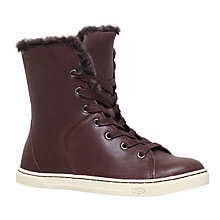Buy UGG Croft Lace Up High Top Trainers Online at johnlewis.com