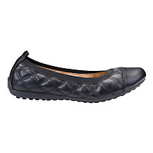Buy Geox Piuma Quilted Ballerina Pumps, Black Online at johnlewis.com