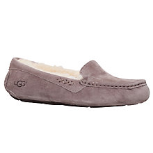 Buy UGG Ansley Suede Slippers, Grey Mid Online at johnlewis.com