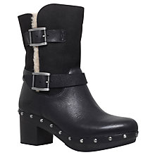 Buy UGG Brea Block Heeled Ankle Boots, Black Online at johnlewis.com