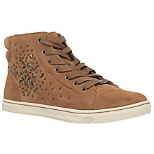 Buy UGG Gradie High Top Trainers, Brown Online at johnlewis.com
