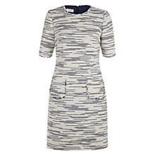 Buy Hobbs Isobella Dress, Ivory/Navy Online at johnlewis.com