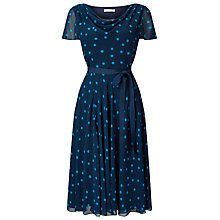 Buy Jacques Vert Soft Prom Spot Dress, Navy Online at johnlewis.com