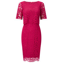 Buy Jacques Vert Floating Bodice Lace Dress, Pink Online at johnlewis.com