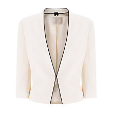 Buy Jacques Vert Contrast Binding Crepe Jacket, Light Neutral Online at johnlewis.com