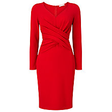 Buy Jacques Vert Petite Ponte Dress, Bright Red Online at johnlewis.com