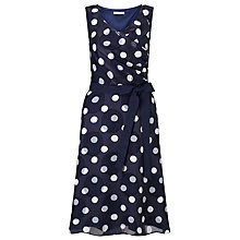 Buy Jacques Vert Petite Spot Burnout Dress, Multi Blue Online at johnlewis.com