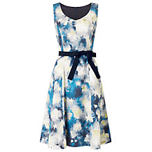 Buy Jacques Vert Blurred Print Prom Shape Dress, Navy Online at johnlewis.com