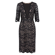 Buy Hobbs Rafaela Dress, Black Latte Beige Online at johnlewis.com
