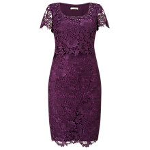 Buy Jacques Vert Opulent Lace Dress, Mid Purple Online at johnlewis.com