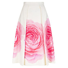 Buy Hobbs Christiana Skirt, Ivory/Multi Online at johnlewis.com