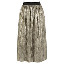 Buy Oasis Metallic Skirt, Gold Online at johnlewis.com