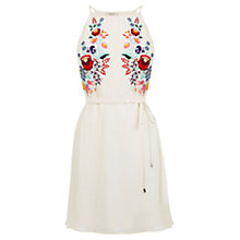 Buy Oasis Embroidered Tropez Dress, Multi/Natural Online at johnlewis.com