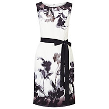 Buy Jacques Vert Petite Shadow Floral Dress, Cream/Multi Online at johnlewis.com