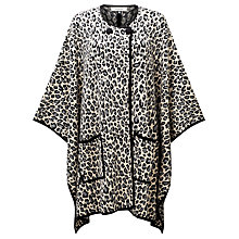 Buy Somerset by Alice Temperley Leopard Print Poncho, Grey Online at johnlewis.com