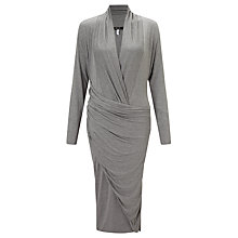 Buy Bruce by Bruce Oldfield 73 NYC Drape Jersey Dress, Grey Marl Online at johnlewis.com