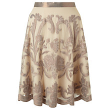 Buy Somerset by Alice Temperley Metallic Embroidered Skirt, Metallic Online at johnlewis.com