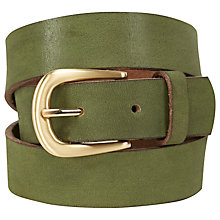 Buy White Stuff Wilding Buckle Belt, Kale Green Online at johnlewis.com