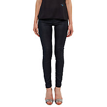 Buy Ted Baker Zinn Metallic Zig-Zag Skinny Jeans, Blue Online at johnlewis.com