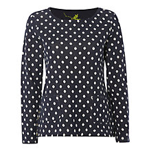 Buy White Stuff All About Spot Jersey Top, Mountain Blue/White Online at johnlewis.com