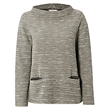 Buy White Stuff Linear Jersey Top, Wolf Grey Online at johnlewis.com