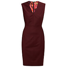 Buy Ted Baker Edge To Edge Suit Dress, Oxblood Red Online at johnlewis.com