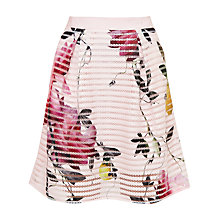 Buy Ted Baker Osuza Citrus Bloom Mesh Skirt, Pink Online at johnlewis.com