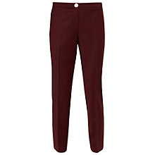 Buy Ted Baker Delihat Straight Leg Tailored Trousers, Oxblood Online at johnlewis.com