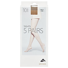 Buy John Lewis 10 Denier Sheer Tights, Pack of 5 Online at johnlewis.com