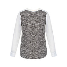Buy Celuu Carey Boucle Front Top, Ivory Online at johnlewis.com
