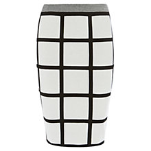 Buy Karen Millen Check Jacquard Knit Skirt, Ivory/Black Online at johnlewis.com