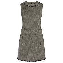 Buy Karen Millen Graphic Tweed Collection Mini Dress, Black/Multi Online at johnlewis.com