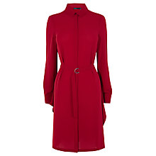 Buy Karen Millen Asymmetric Hem Shirt Dress, Dark Red Online at johnlewis.com